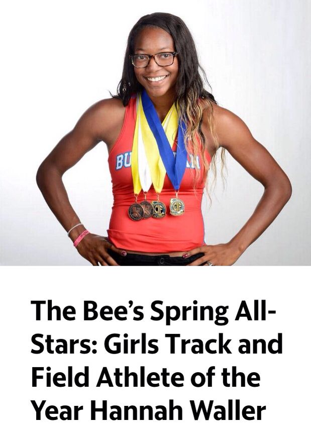 Track and field Athlete of the year the Fresno Bee representing the Central Valley