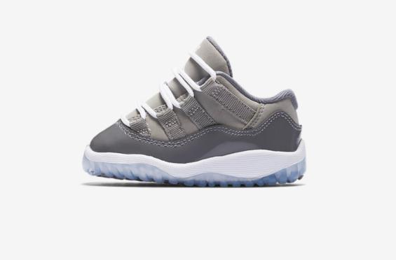 quality design 1fb02 dcff2 Air Jordan 11 Low Cool Grey Coming In Full Family Sizes