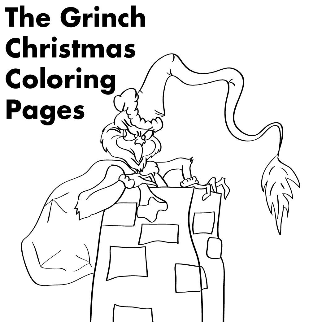 Clever image intended for grinch coloring pages printable