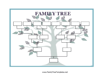 Homeschool printable Use this Blank Family Tree with stylized leaves ...