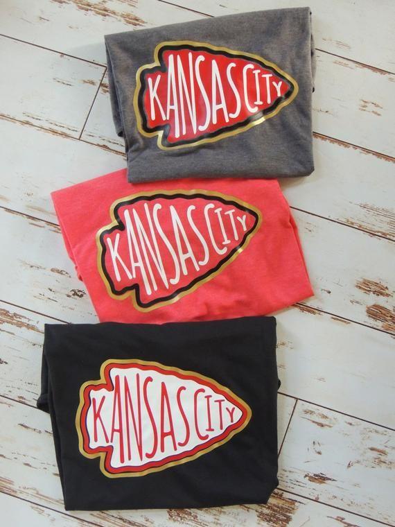 Kansas City Chiefts Shirt Kansas City Chiefs Arrowhead Chiefs Football Womens's Chiefs Shirt