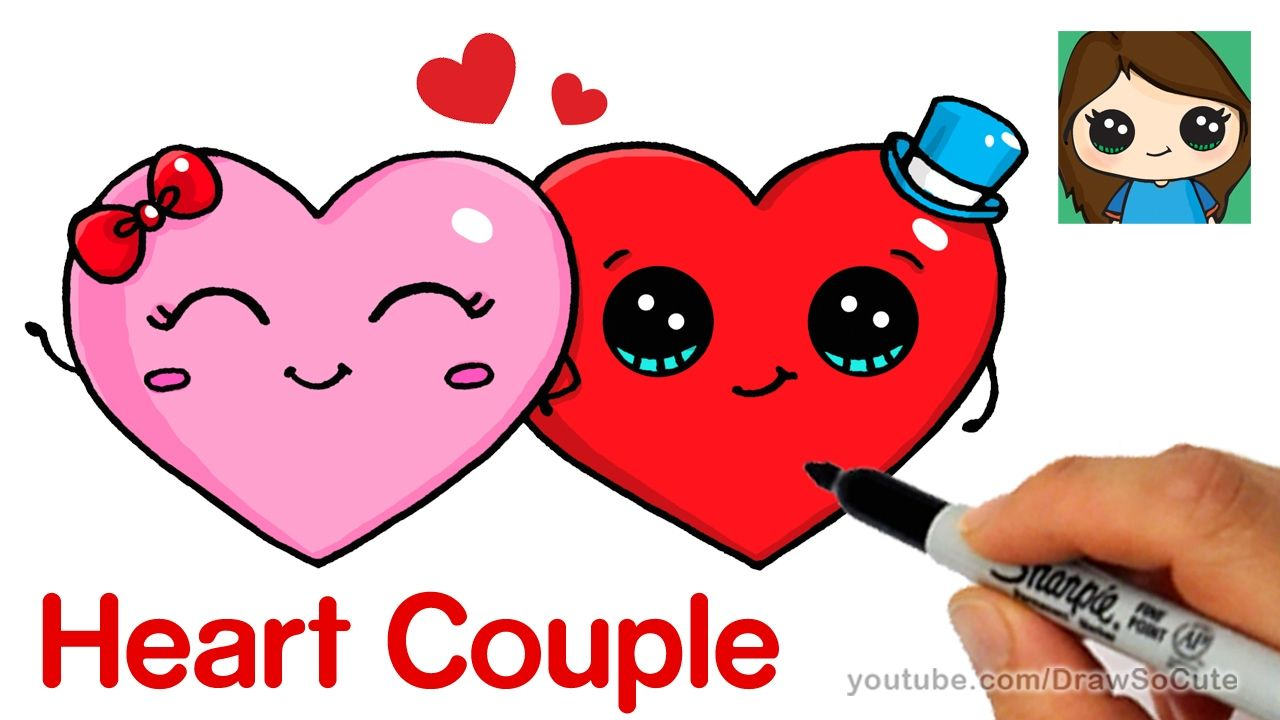 How To Draw Cute Hearts Easy Valentines Day Drawing Cute Drawings Cute Kawaii Drawings
