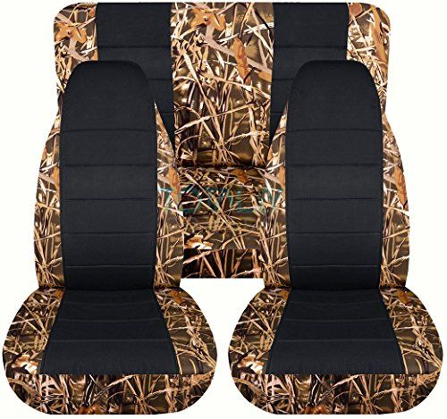 2006 Jeep Wrangler Interior: 1997-2006 Jeep Wrangler TJ Camo & Black Seat Covers