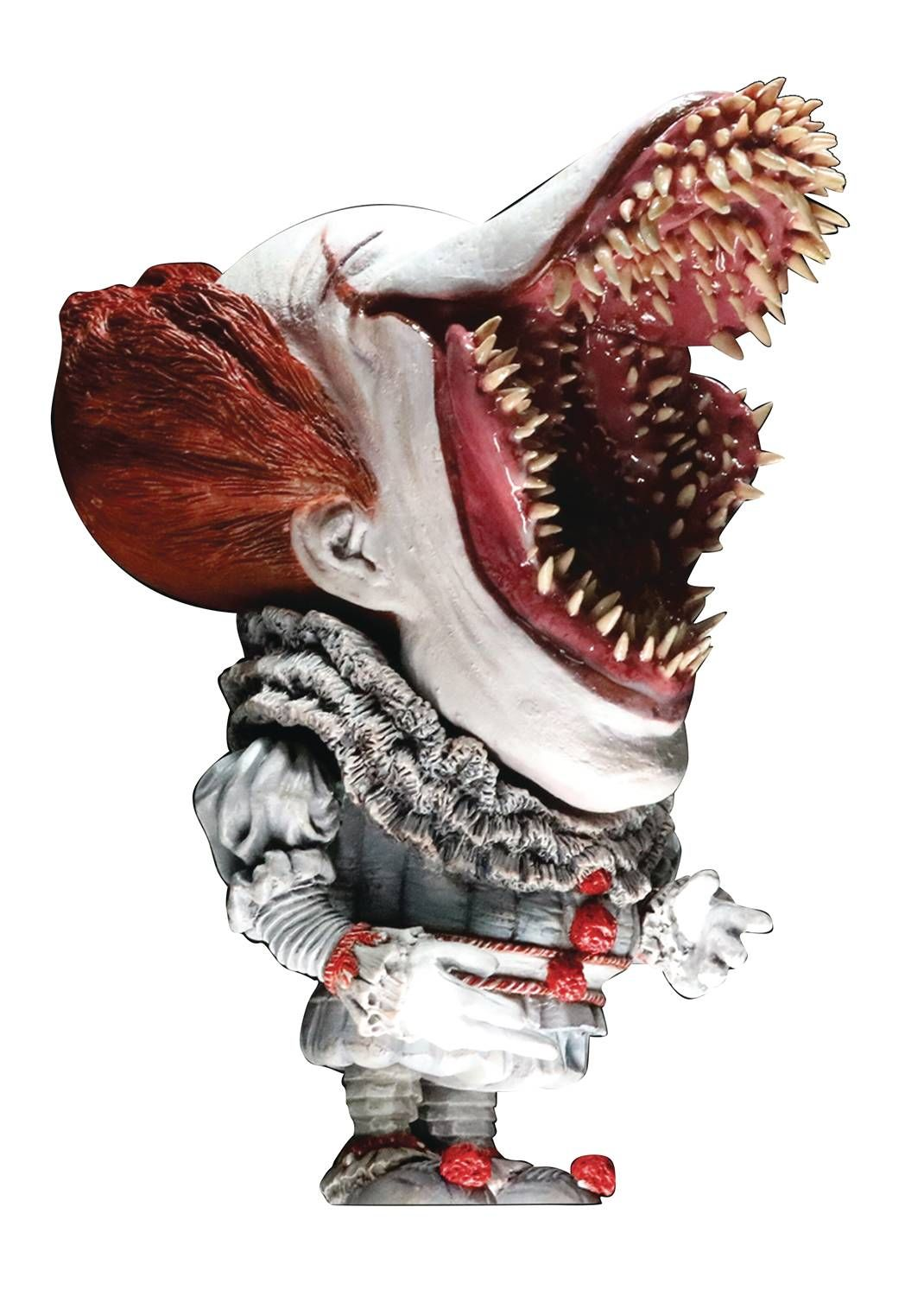 It 2017 Deform Real Series Pennywise Soft Vinyl Statue Open Mouth Version Statue Pennywise Horror Movie Art