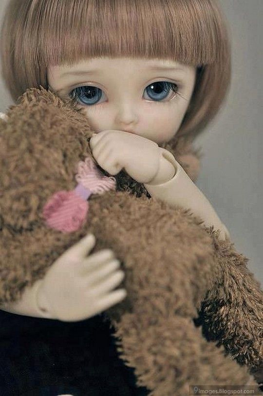 Sad Doll Girl Alone Cute With Teddy Hug Awww In 2019 Dolls Bjd