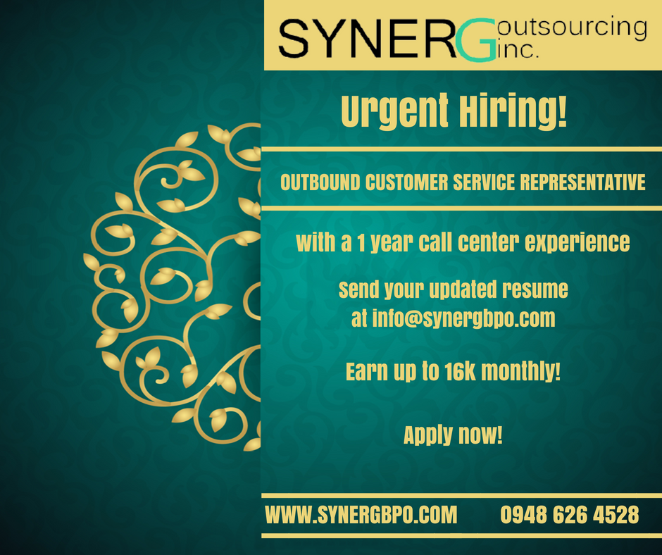 Syner G Outsourcing Inc. is more than happy to provide you