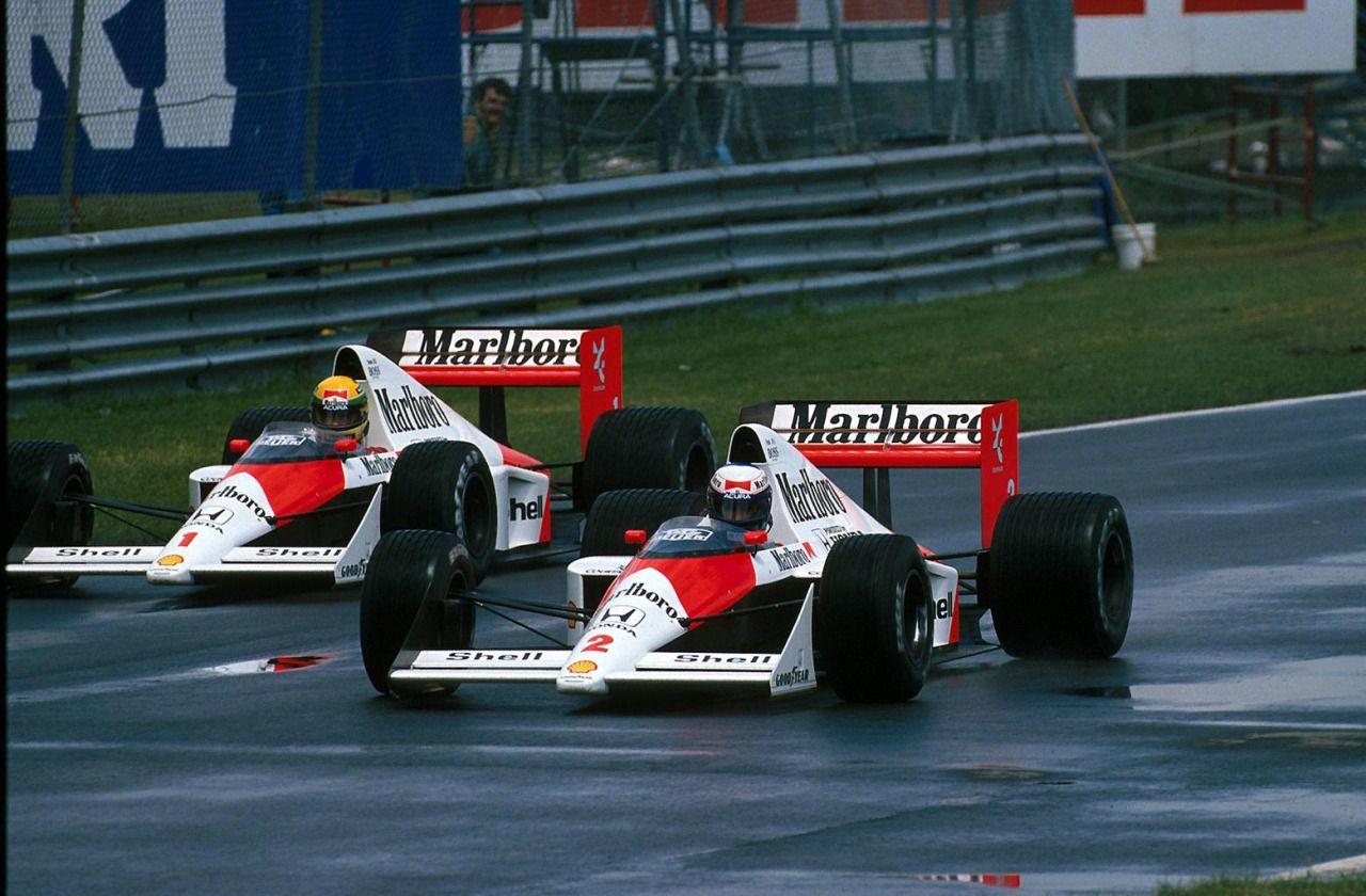 Alain Prost vs. Ayrton Senna McLarenHonda MP4/5 Canadian