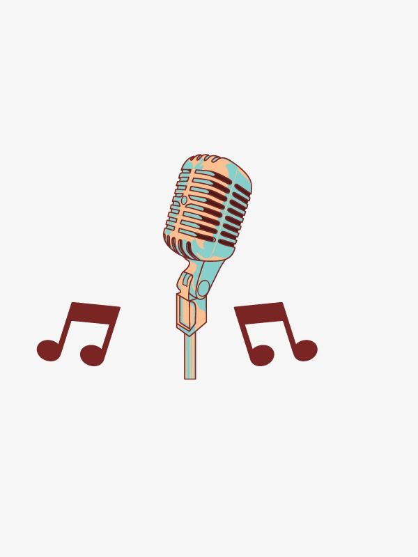 Decorative Vector Retro Microphone Png And Vector Music Logo Design Banner Background Images Retro