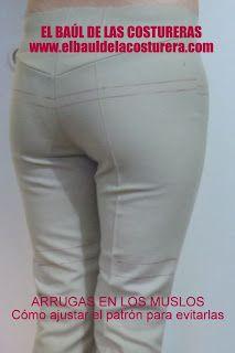Cómo arreglar defectos en los pantalones arrugas en los muslos