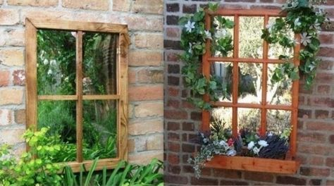 installer des miroirs au jardin gardening jardins. Black Bedroom Furniture Sets. Home Design Ideas