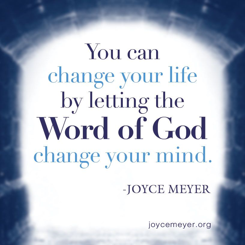 Christian Inspirational Quotes Life Changes: God's Word Will Change Your Mind.