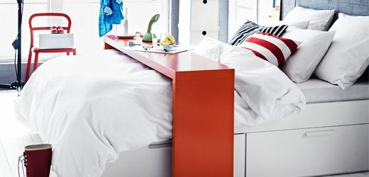 Awesome Ikea Over The Bed Table Pictures - Gabe & Jenny Homes