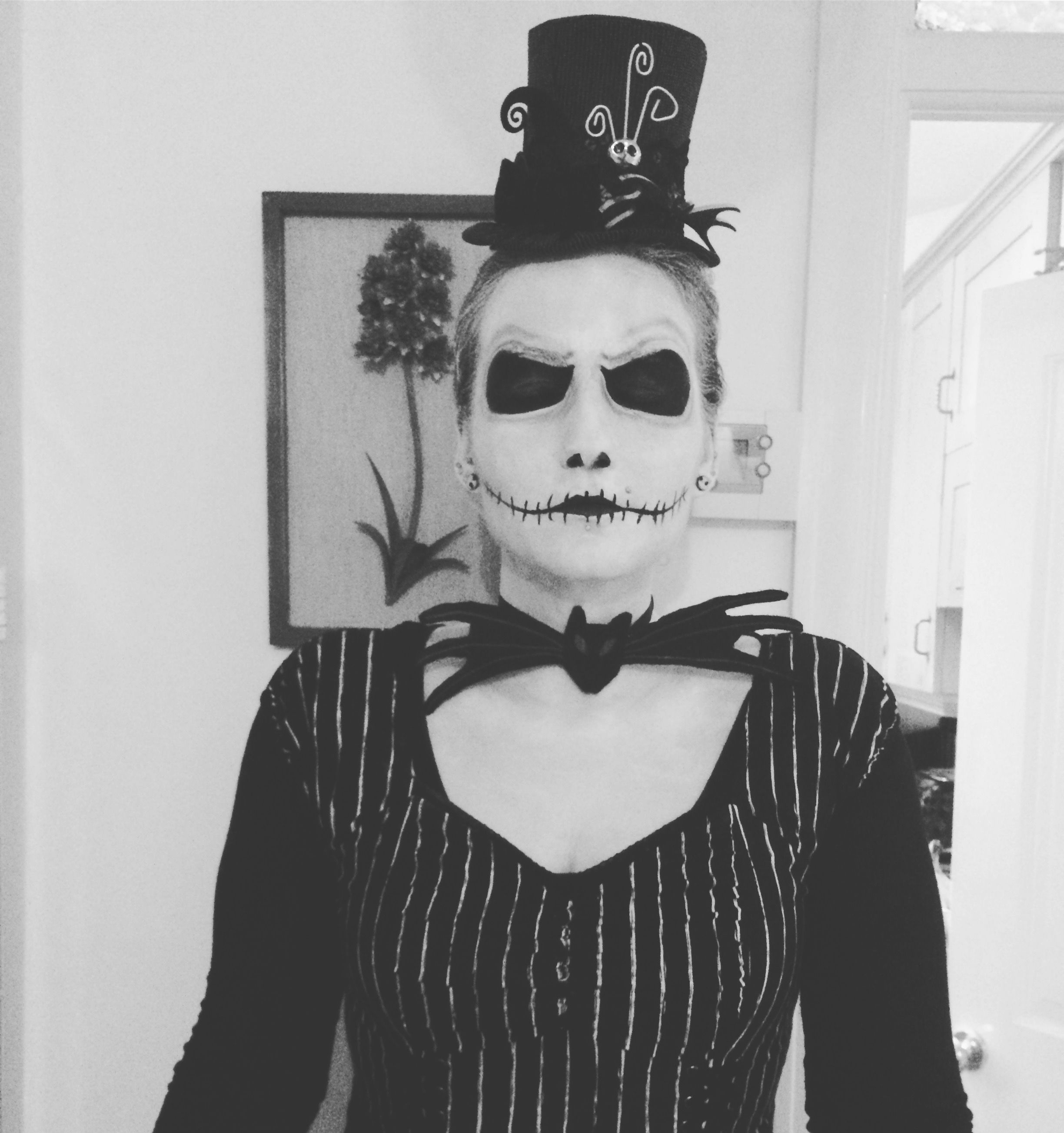 My first attempt at a female jack skellington. (With
