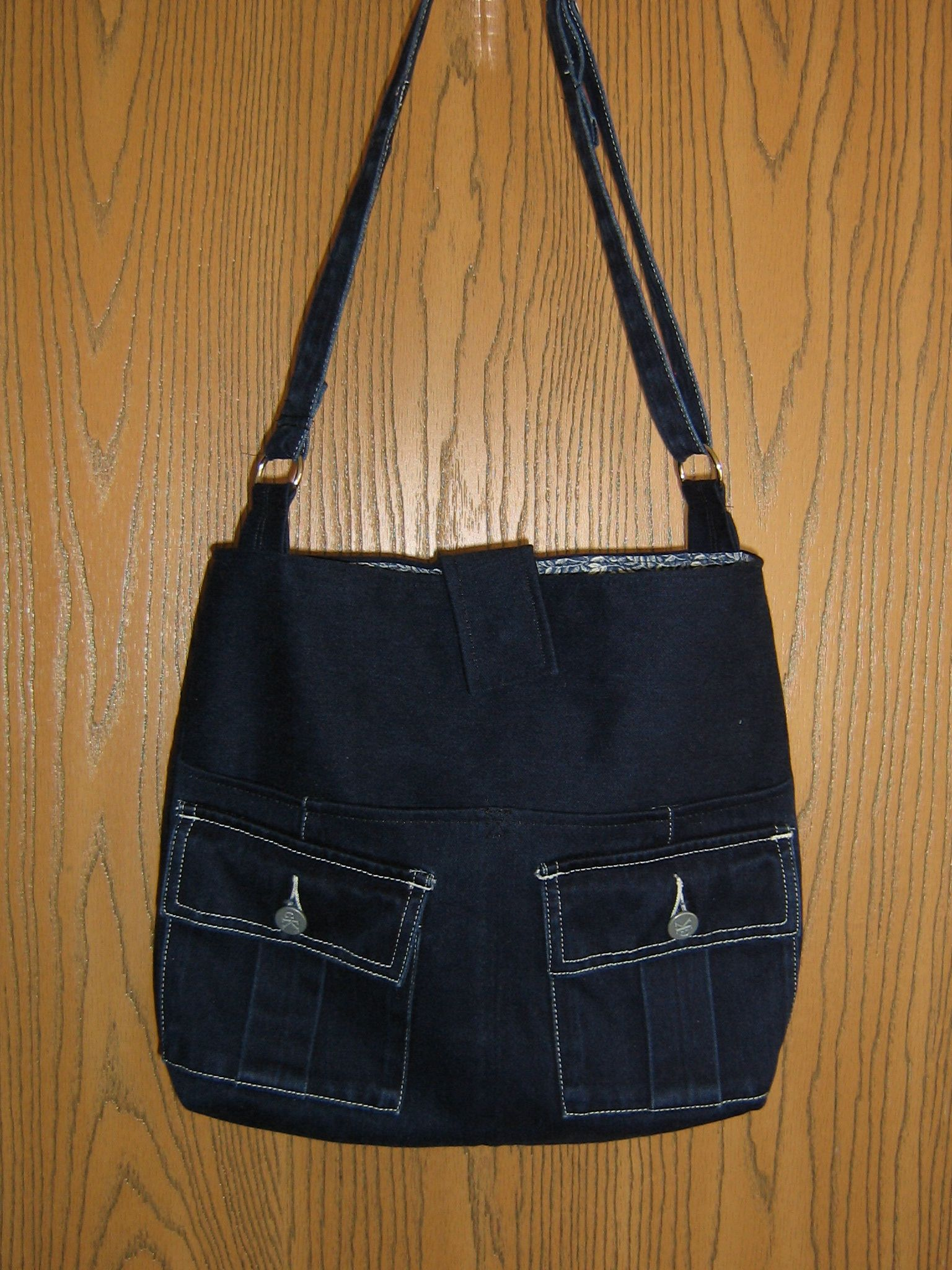 Repurposed Denim Skirt Bag