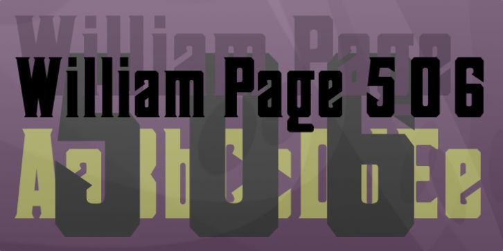 William Page 506 font download