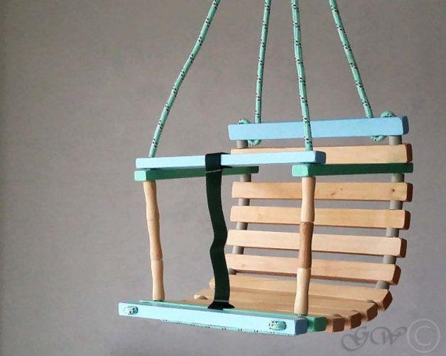 Personalisierte Holzhandmade Swing Babyschaukel Baby Swings