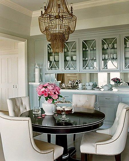 Beautiful dining space and cabinetry Dream board Pinterest - Beautiful Dining Rooms