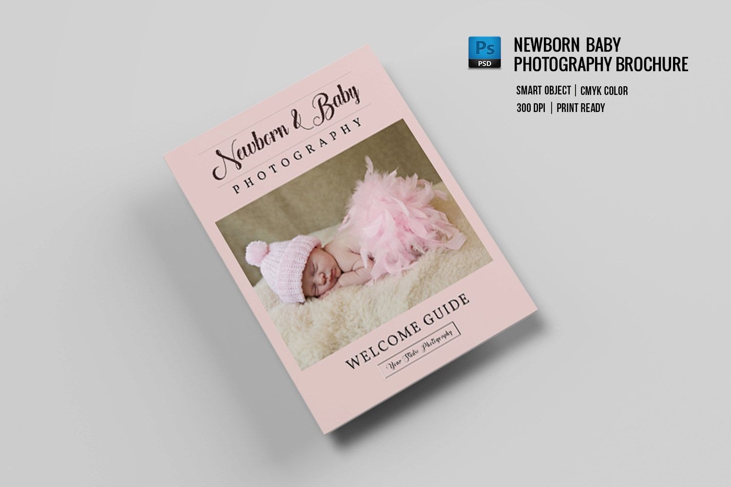 Newborn Photography Magazine Template  Promotional Brochure