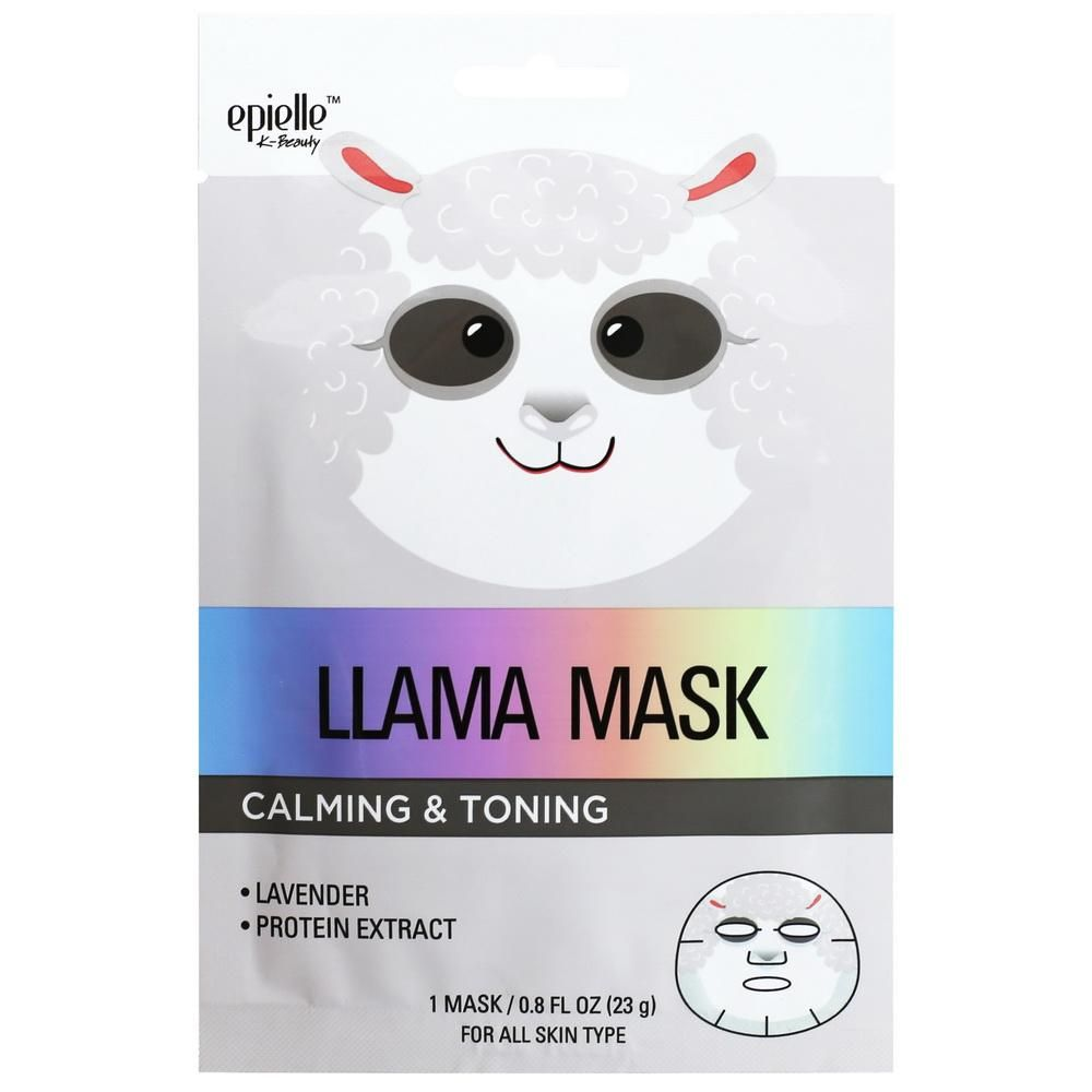 epielle®Llama Character Mask 1ct | epielle com | Face