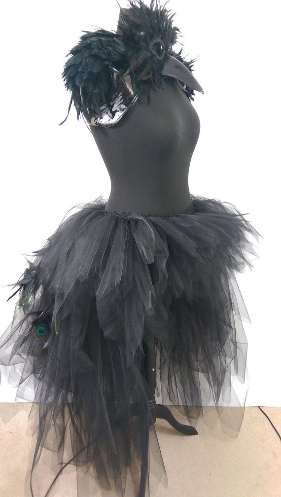 , Black Low High Layered Tutu + Bird Mask Peacock Feathers Turkey Feathers Wedding Prom Photo Shoot- Available in Teenage,Adult + Plus Sizes, My Travels Blog 2020, My Travels Blog 2020
