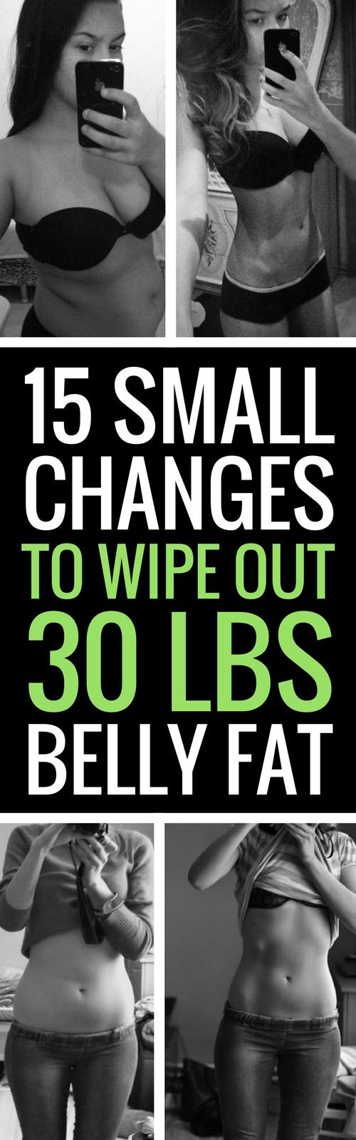 15 changes to your daily routine to battle belly fat.