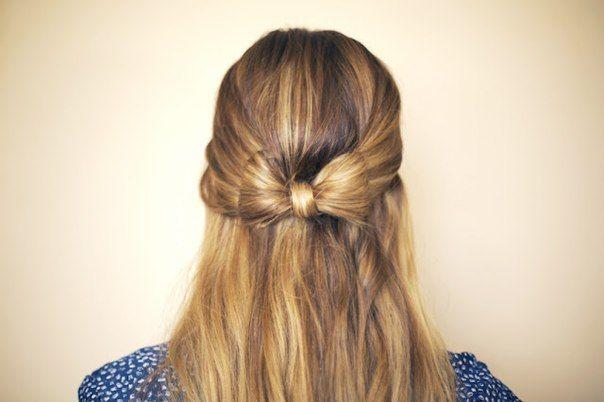Schleife Aus Haaren Anleitung Frisur Dekoking Haar Styling Frisuren Offene Haare Haarlange