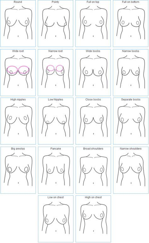 Breast size examples