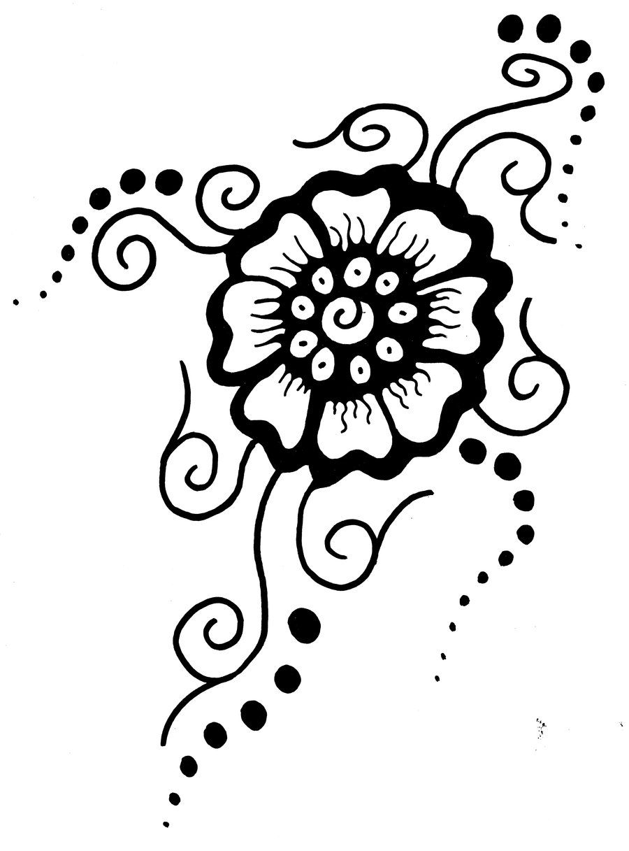 picture relating to Printable Henna Designs titled Printable Flower Stencil Routines Mehndi Flower through