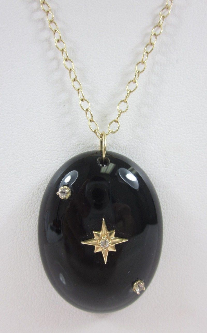 bling necklace onyx bead genuine onx black faceted chains jewelry yp
