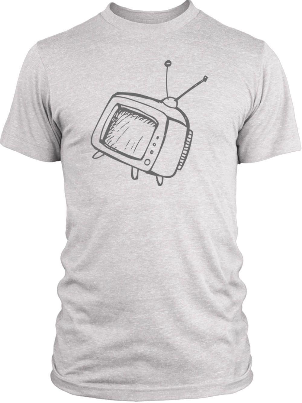 Big Texas Hand Drawn Television (Grey) Vintage Tri-Blend T-Shirt