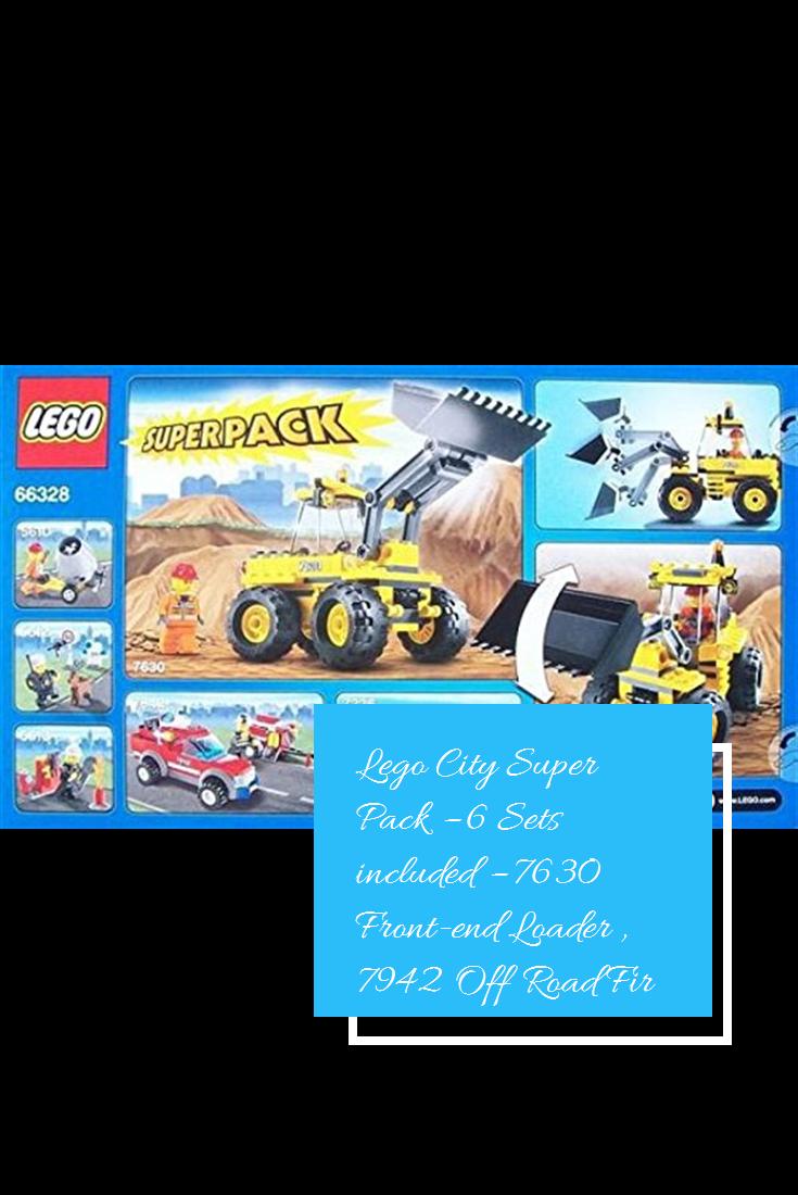 Lego City Super Pack 6 Sets Included 7630 Front End Loader 7942 Off Road Fire Rescue 5613 Mini Figure Set 5613 Firefi City Super Lego City Fire Rescue