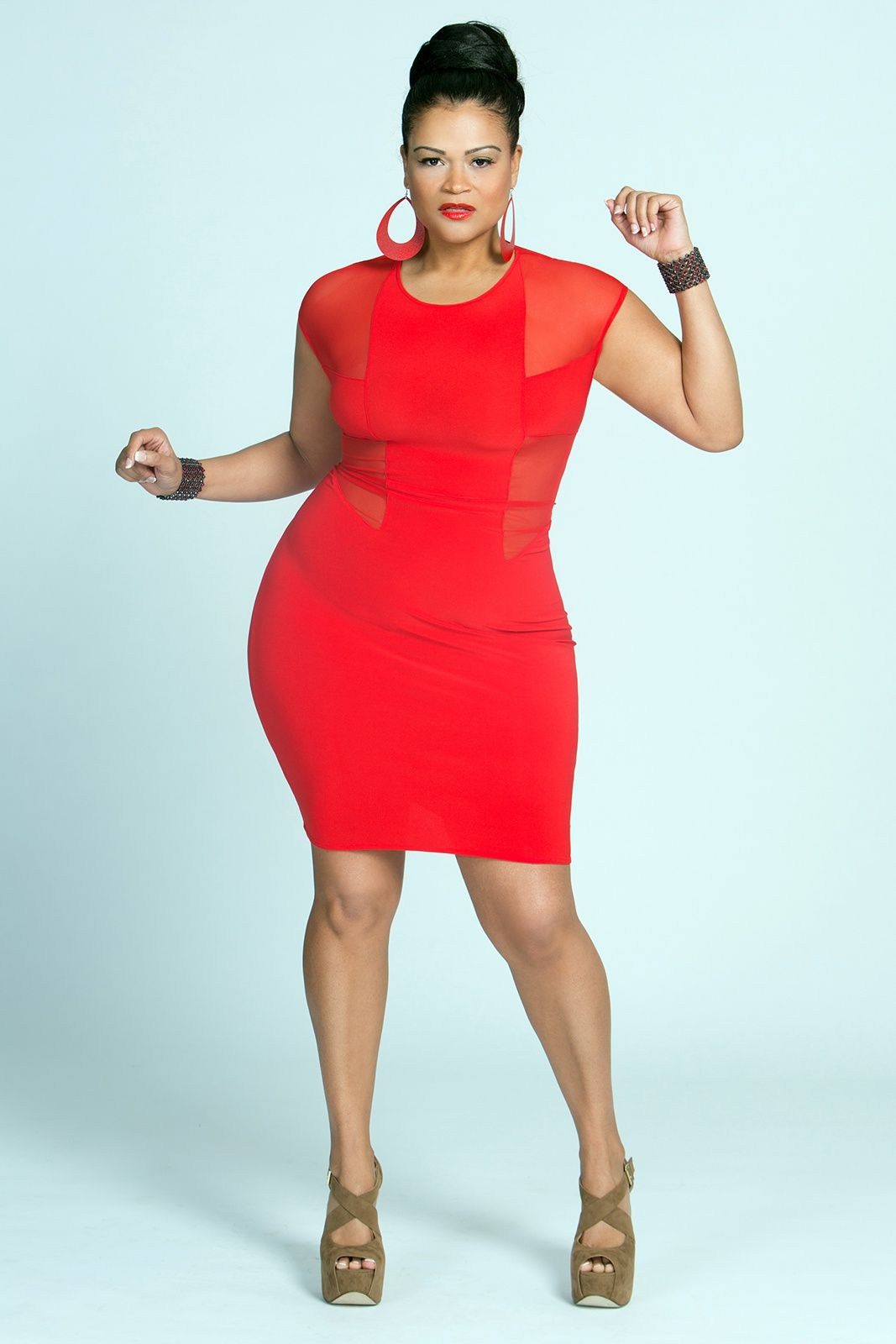 Emejing Red Party Dresses Plus Size Images - Mikejaninesmith.us ...