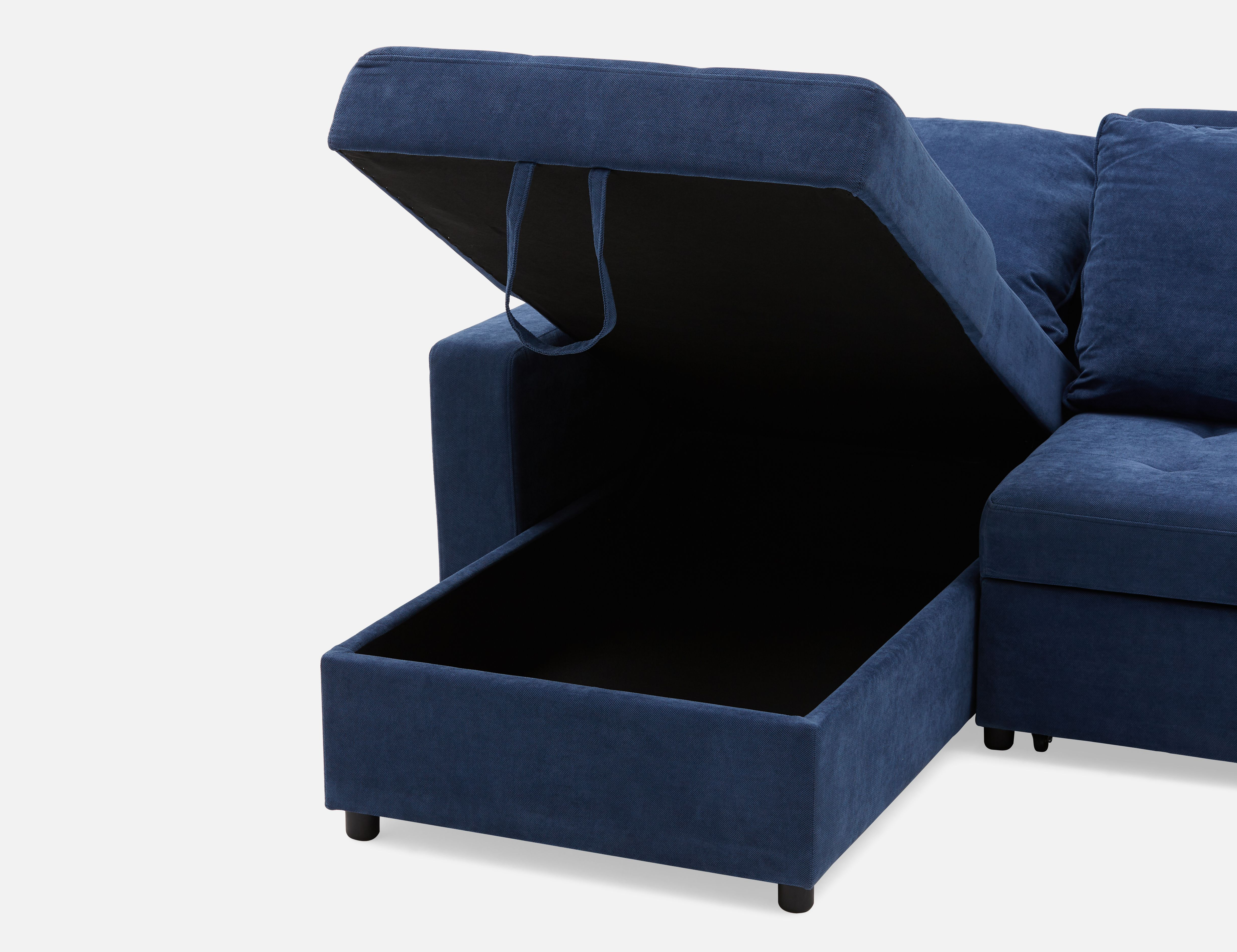 Outstanding Megan Dark Blue Interchangeable Sectional Sofa Bed Struc Unemploymentrelief Wooden Chair Designs For Living Room Unemploymentrelieforg