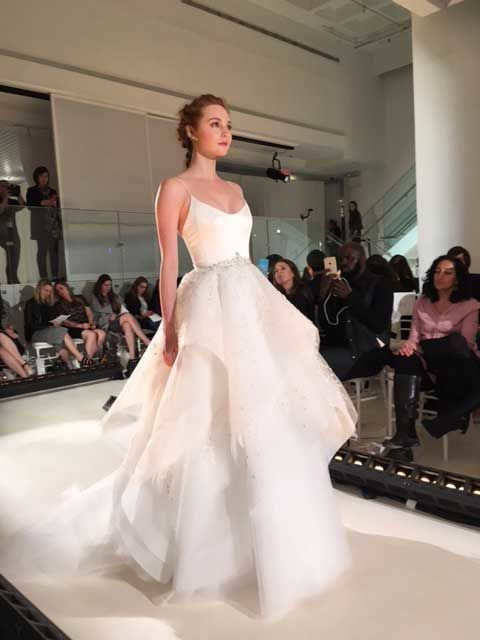 94fc0902ad0 Alvina Valenta stunned onlookers with this diamond white tulle wedding ball  gown. With a ballerina scoop neckline and asymmetrical layers of tulle