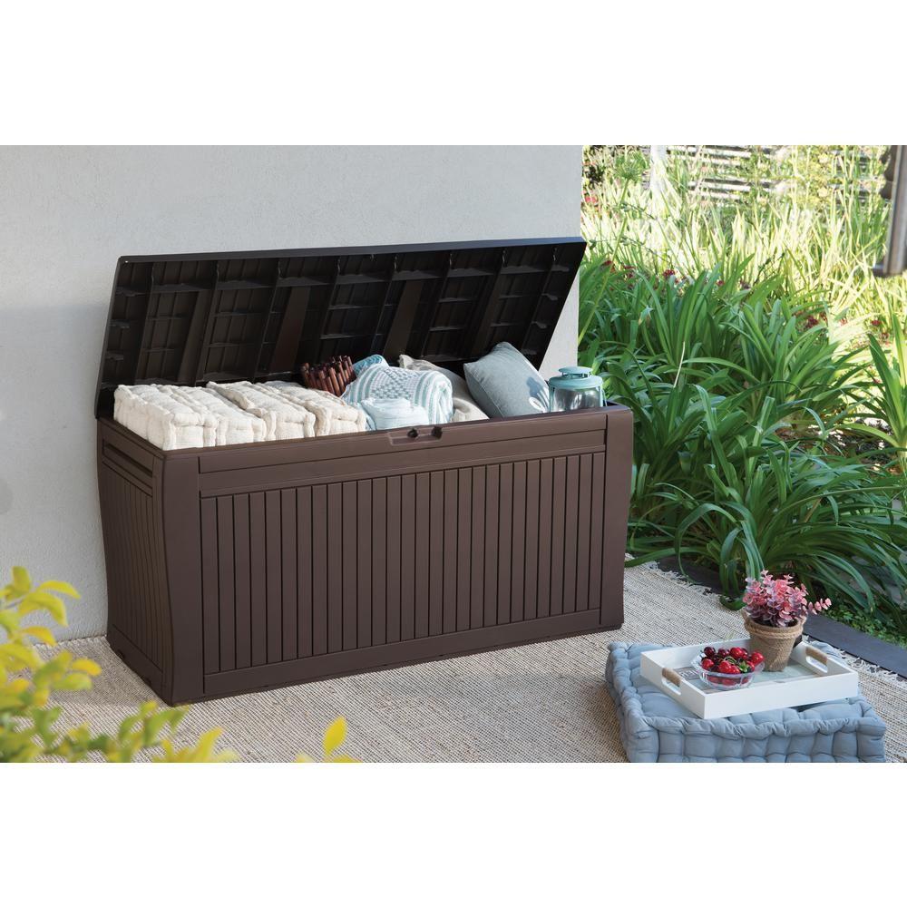 keter comfy 71 gal resin deck box