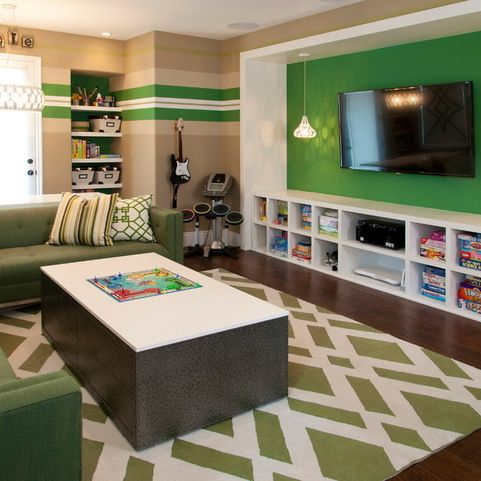 Kids Playroom Family Room Ideas teen game room design ideas, pictures, remodel and decor | home