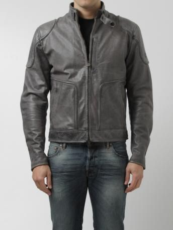 Matchless-giubbotto in pelle grigio-grey leather biker jacket-Matchless shop online