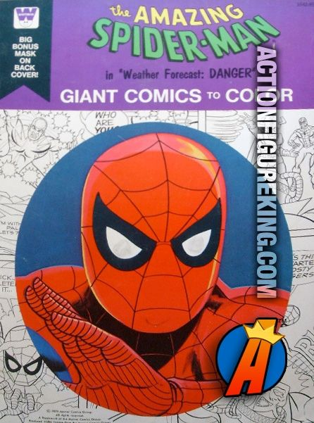1976 Spider Man Giant Comics To Color Weather Forecast Danger From Whitman 50 Page Coloring Book Coloringbook Spide Spiderman Coloring Books Marvel Books