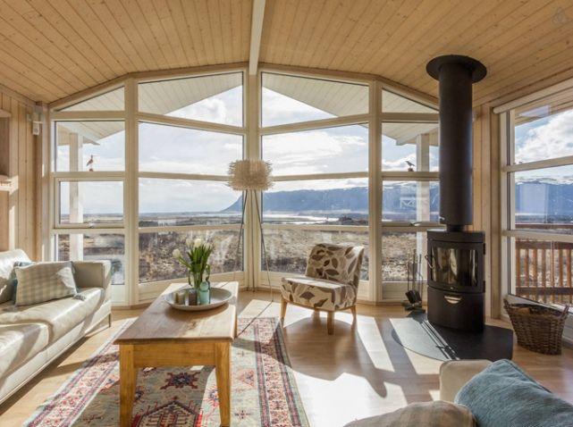 Salon avec baie vitree Maisons du0027été Summerhouse Pinterest Room