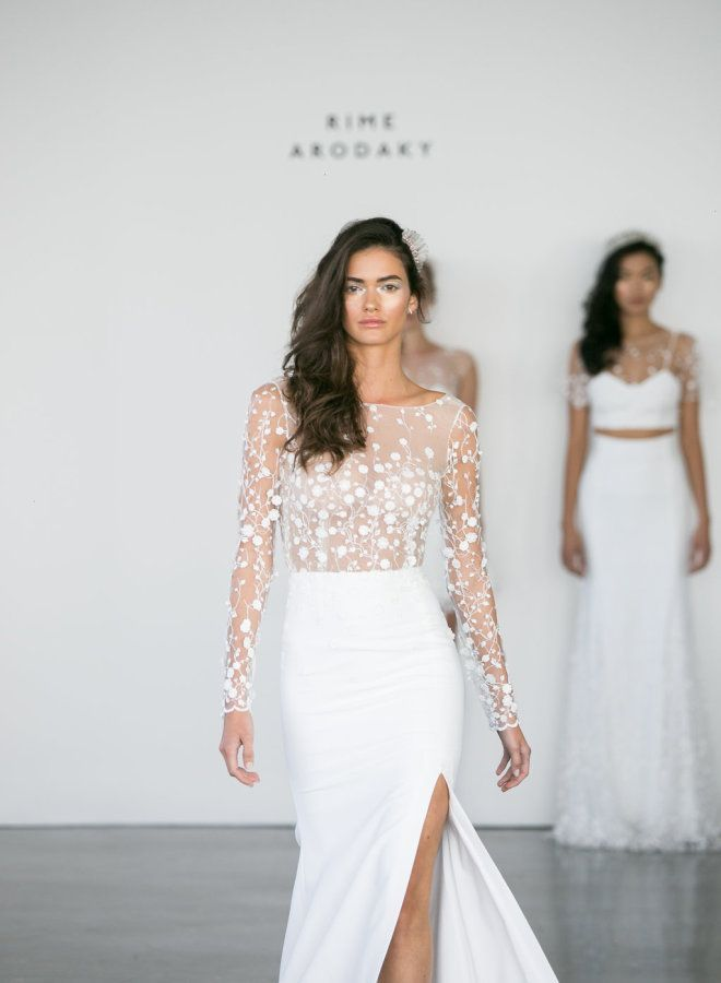 Best Wedding Dresses Gowns Image Description Illusion Bodice Rime Arodaky Dress Www Photography Greg Finck