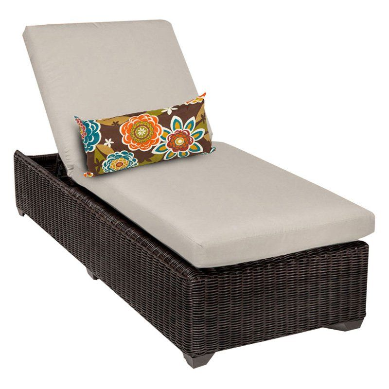 TK Classics Venice Outdoor Chaise Lounge - Set of 2 Cushion Covers Beige - VENICE-1X-BEIGE