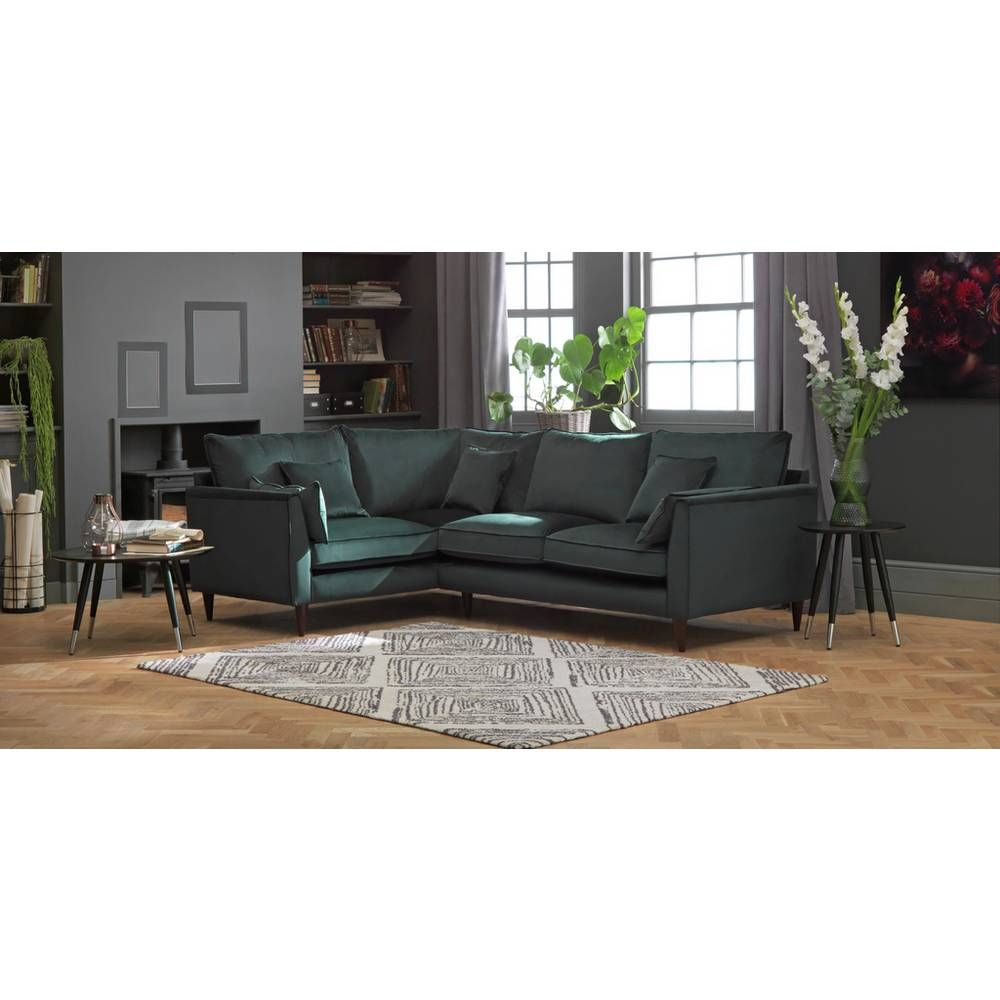 Sofa Settee Argos Buy Argos Home Hector Left Corner Velvet Sofa Green