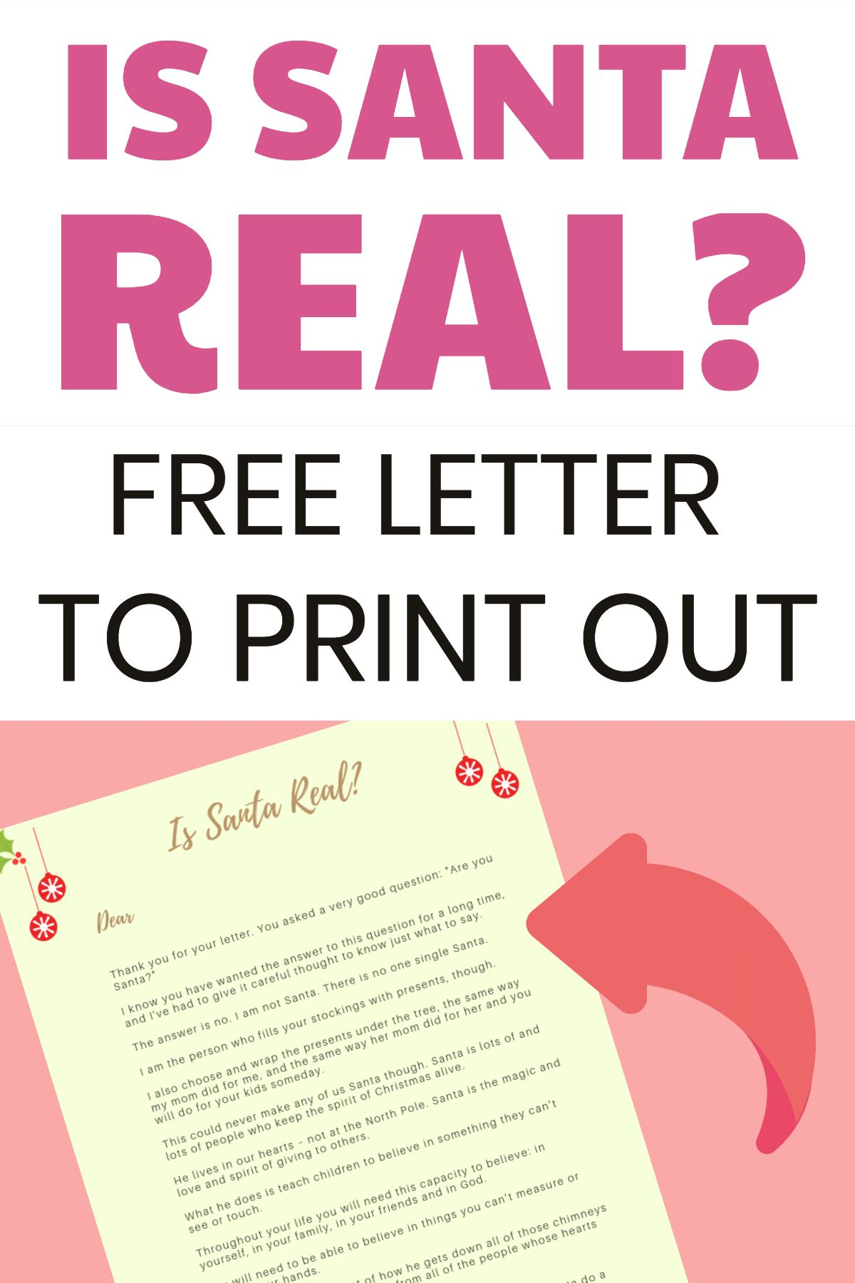 graphic relating to Printable Letter Explaining Santa titled Is Santa True? - A Interesting Letter Describing Santa Claus