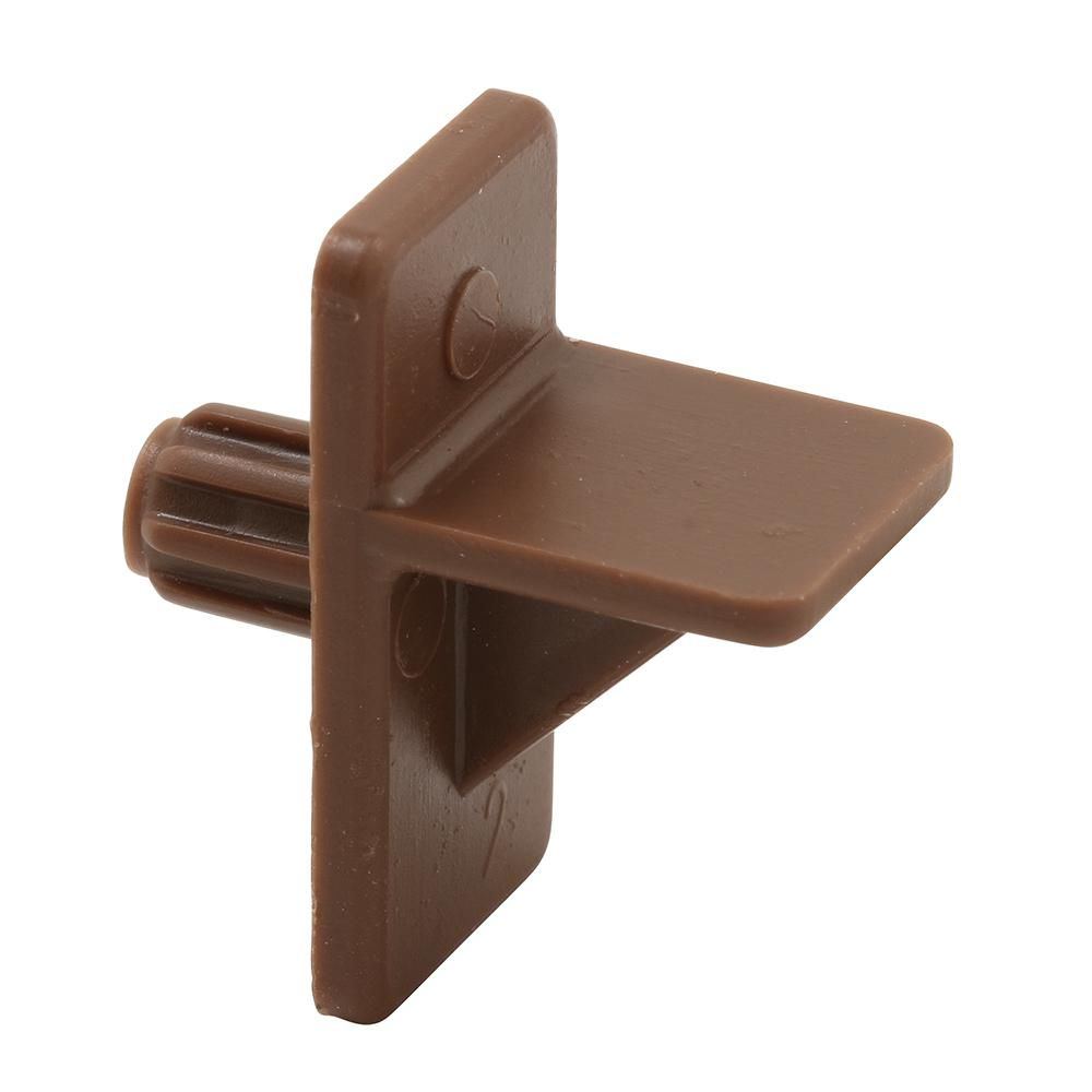 Prime Line 5 Mm Brown Plastic 1 2 In Self Locking Shelf Support Peg 4 Pack U 9255n The Home Depot Plastic Shelves Shelf Supports Kitchen Cabinet Shelves