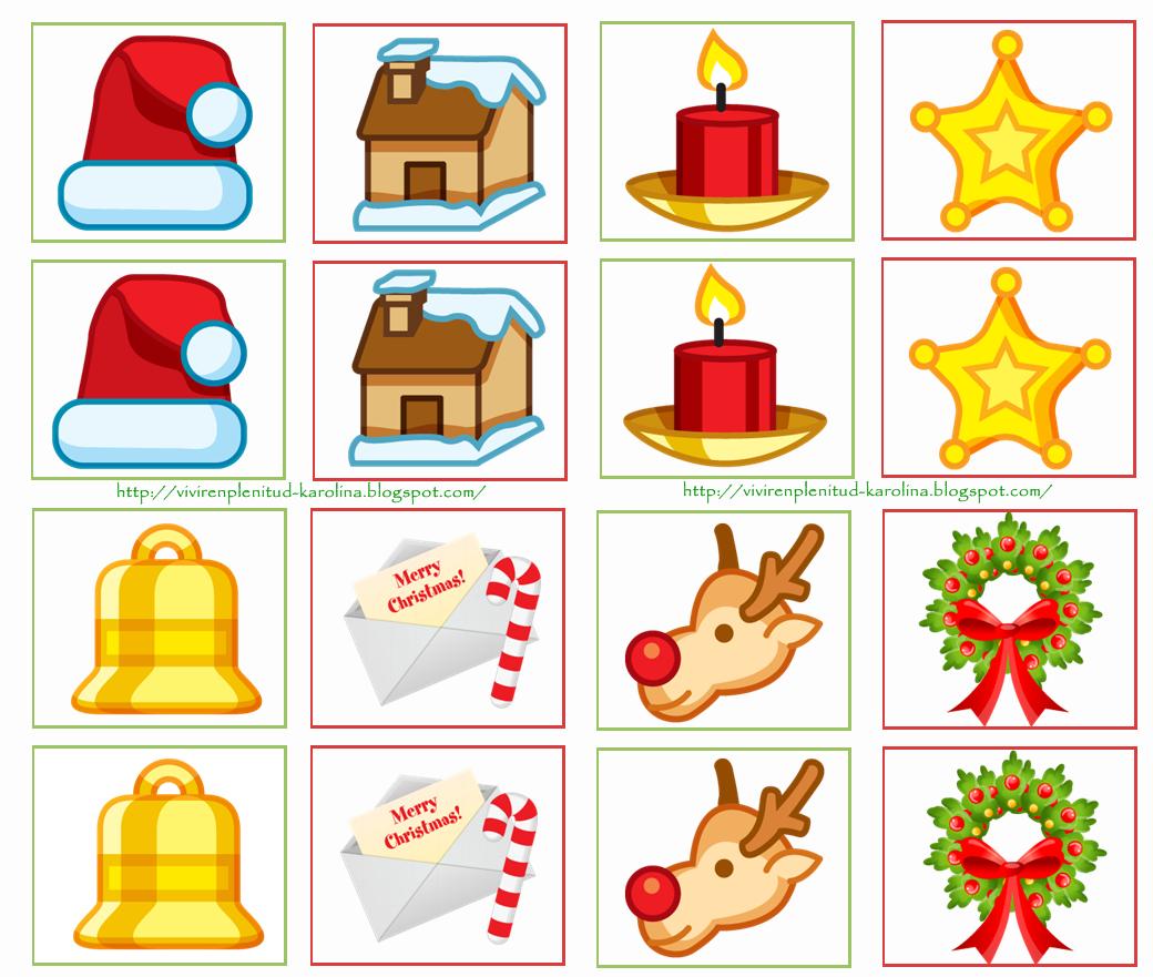 Dulces Momentos Memorama Navidad  dibujos aula