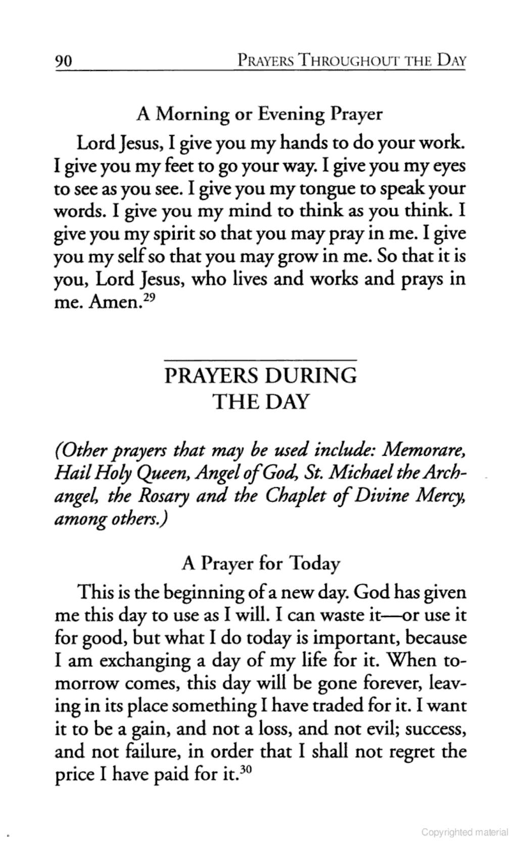 catholic family prayer book lord jesus i give you my hands to catholic family prayer book lord jesus i give you my hands to