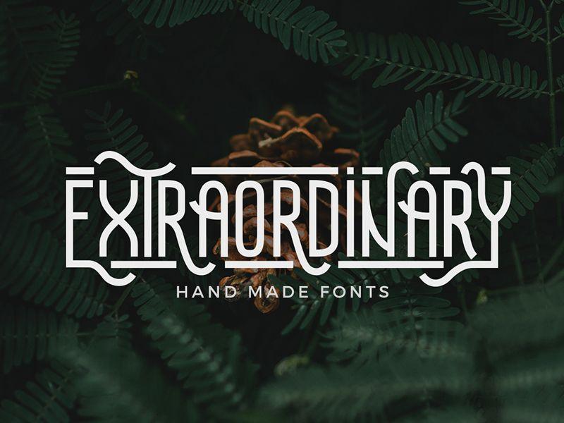 Extraordinary - Handmade Font | Handmade font, Best script ...