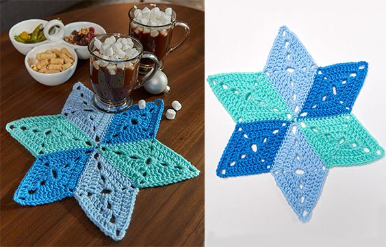 Star table mat coasters crafts with free pattern written crochet star table mat coasters crafts with free pattern written crochet cup holders free ccuart Choice Image
