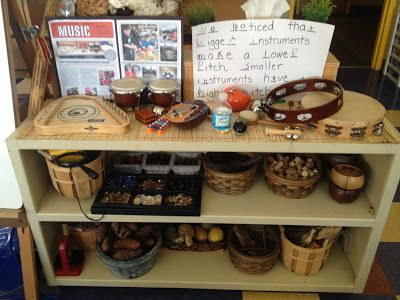 Inquiring Minds: Mrs. Myers' Kindergarten: Music Inquiry. For more inspiring classrooms visit: http://pinterest.com/kinderooacademy/provocations-inspiring-classrooms/ ≈ ≈