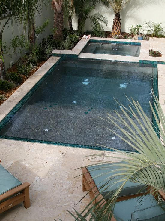 Tropical Pool Saltwater Pool Design, Pictures, Remodel, Decor And Ideas    Houzz Page 14 {wet Edge Pool}